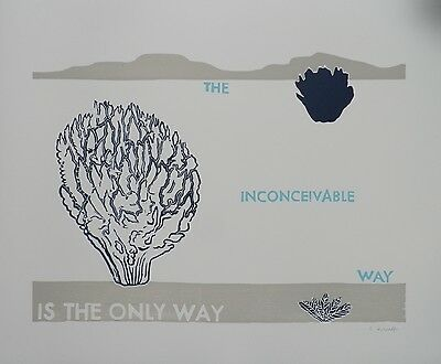 Caroline Kierulf, The inconceivable way is the only way, handsigniert, 2015