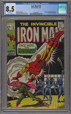 Iron Man 10 CGC 8.5.  Mandarin Appearance.  Off-White Pages.