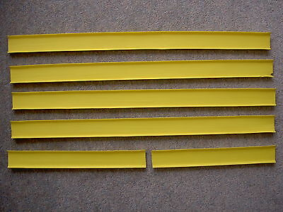 Vintage Yellow Matchbox Superfast Track Lengths x 4, 1970s