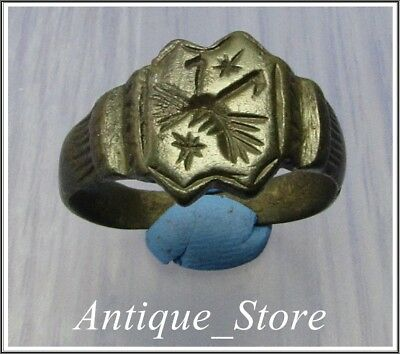 ** BEE FLYING ** Ancient Bronze Greek - Roman Ring