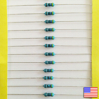 25x 25pcs 470 Ohm Metal Film Resistor 1/4 watt 1% tolerance - Fast US Shipping
