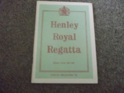 Rare Vintage Henley Royal Regatta Programme 29Th June 1984
