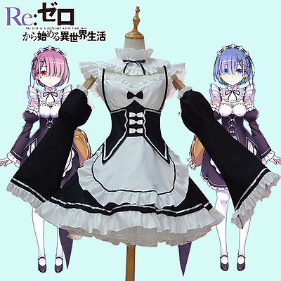 Cosplay Rem Ram Re Zero Kara Hajimeru Isekai Seikatsu anime Maid Re:Zero