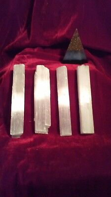 Selenite Sticks (4) Healing Energy Crystals
