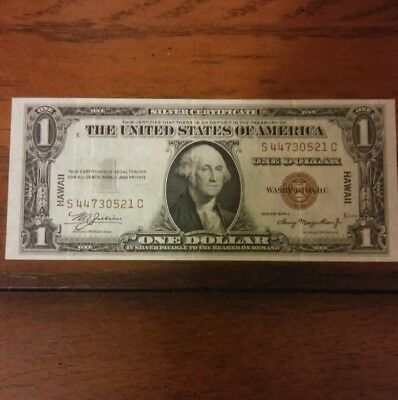 1935-A One Dollar $1 Silver Certificate- BROWN SEAL- HAWAII-  Free Ship