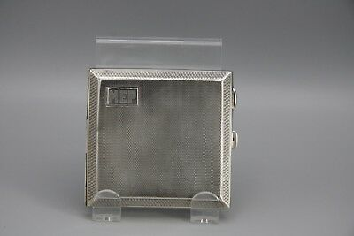 Sterling Silver Cigarette Case No 9 CGH Horsham 1945 WWII English Monogrammed