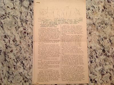 USS Wasp Navy Aircraft Carrier Hangar Deck Herald newsletter WWII December 1945