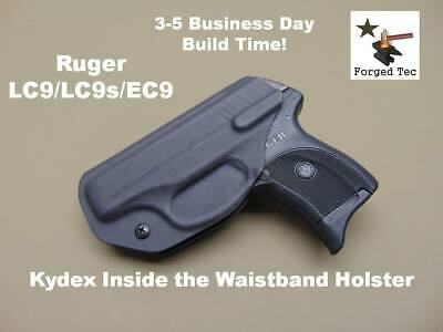 Ruger LC9 / LC9s / EC9s Black Kydex Inside the Waistband Holster