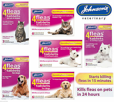 Johnsons 4 Fleas Tablets For Dogs, Cats, Puppies & Kittens