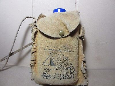 Vintage Bloom Brothers Co Suede Canteen Pouch toy