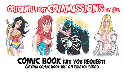 ORIGINAL COMIC BOOK ART COMMISSION 14x17 (READ FOR DETAILS)
