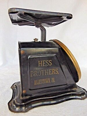 Antique Advertising HESS BROTHERS,ALLENTOWN,PA. Columbia FAMILY KITCHEN SCALE ~R