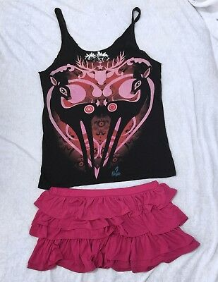 Juniors Iron fist and sweet love summer skirt clothing lot Size XXL