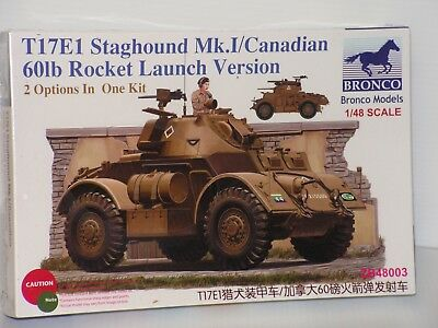 BRONCO #ZB48003 1/35 T17E1 STAGHOUND Mk.I/CANADIAN 60lb ROCKET LAUNCH VERSION FS