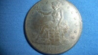 1874 Trade Silver Dollar, circulated but still in good condition!