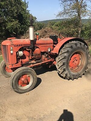 Barn Find!! 1951 Case D Four Cyl Gas Tractor Runs!! Wide Front