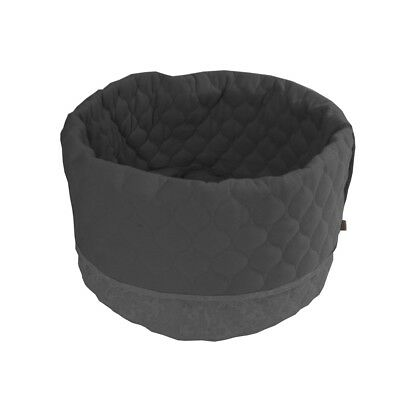 Overseas Cat Kitty Bed Basket Warm Comfortable Canvas Felt 45x40 cm Anthracite