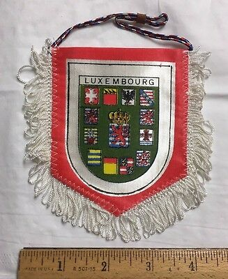 Luxembourg Travel Souvenir Two-sided Pennant Patch