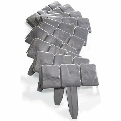 Set of 10 Plastic Interlocking Faux Stone Border