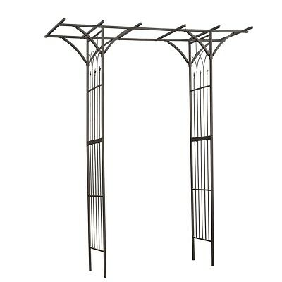 Nature Garden Archway Outdoor Decor Climbing 114x66x232 cm Steel Black 6040801