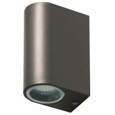 SMARTWARES Up and Down LED Wall Light Outdoor Garden Decor 6 W Grey 5000.331
