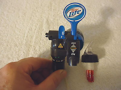 "Vintage ? Miller Lite Keg Tap ? And Bottle Pourer "" AWESOME COLLECTABLE SET """