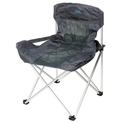Camp Gear Folding Camping Chair Picnic Outdoor Deluxe Compact Anthracite 1204739
