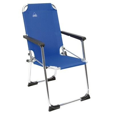 Camp Gear Folding Camping Chair Picnic Outdoor for Kids Blue Aluminium 1211932