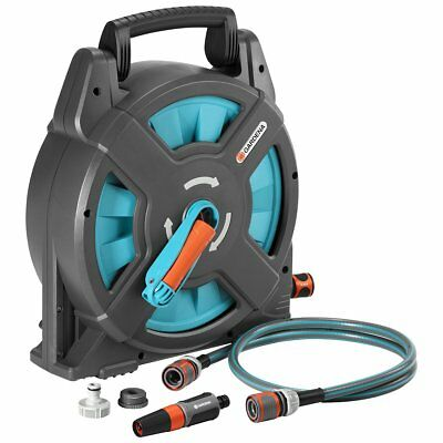 Gardena Hose Reel Set Watering Pipe Garden Classic 15 Grey and Blue 15 m 2662-20