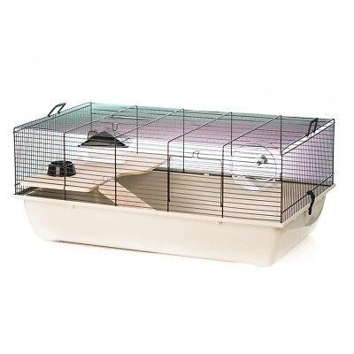 Beeztees Rodent Mouse Hamster Rat Cage Enclosure 78x48x33 cm Tommy Wood 266843