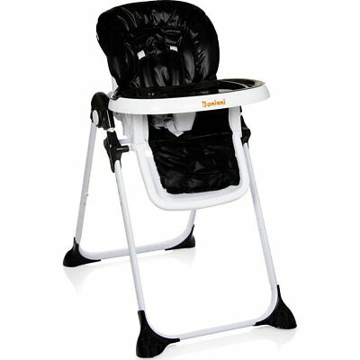 Baninni Folding Baby/Child/Toddler Feeding High Chair Olivo Black BNDT007-BK