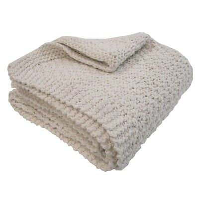 Overseas Blanket Throw Sofa Sette Bedspread Cover Knitted 130x150 cm Off White