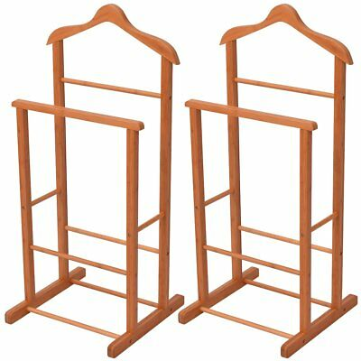 vidaXL 2 pcs Clothing Rack Garment Coat Rail Storage Stand Bamboo 46x40x95 cm