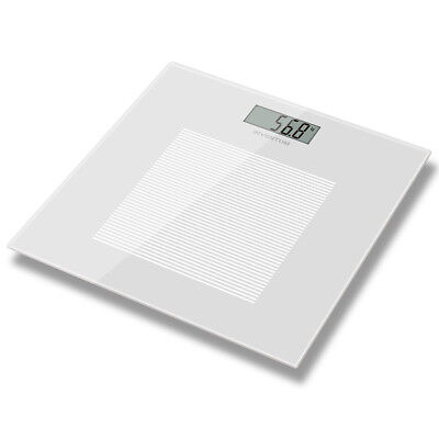 Inventum Bathroom Body Weighing Scales Digital LCD White Glass 180 kg PW405WT