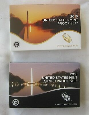 2016 Silver Proof Set & 2016 Clad Proof Set