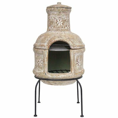 RedFire Fireplace Heater Warmer Stove Star Flower with Grill Clay Straw 86033