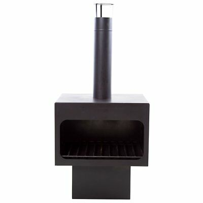 RedFire Fireplace Heater Stove with Chimney/Grid Jersey XL Steel Black 81076