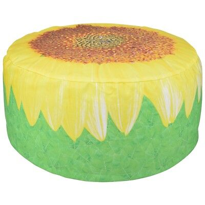 Esschert Design Inflatable Outdoor Pouffe Seat Waterproof Sunflower 58 cm BK017