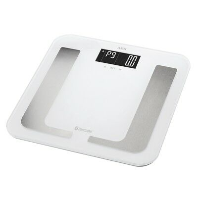 AEG Diagnostic Scales Weight Body Analyser Fat with Bluetooth PW 5653 BT White