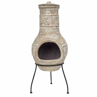 RedFire Fireplace Heater Stove Outdoor Star Flower Clay Straw Colour 86037