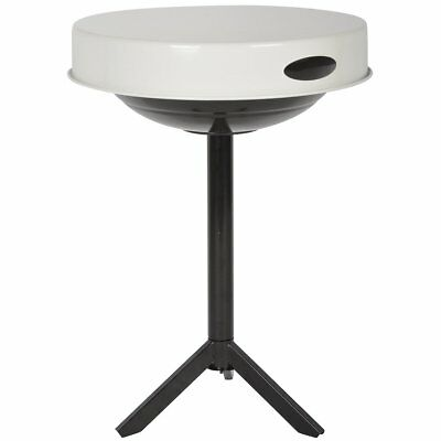Esschert Design BBQ Table Cooking Grill Outdoor Camping Carbon Steel White FF236