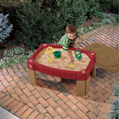 Step2 Sand Table Naturally Playful Red Kid Children Outdoor Garden Game 759400