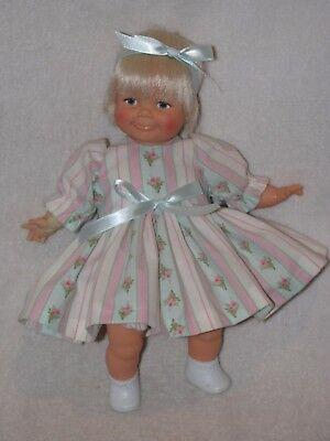 "10"" Ideal Toddler Thumbelina Baby Doll Dressed Cute"