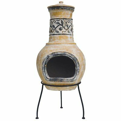 RedFire Fireplace Heater Warmer Stove Outdoor Soledad Clay Yellow/Brown 86035
