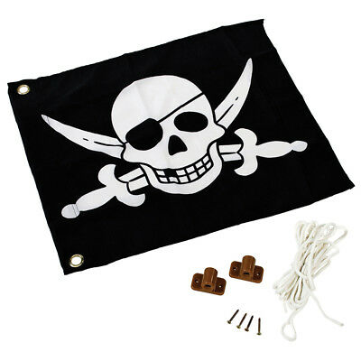AXI Pirate Toy Playhouse Flag Kids Children Black and White 55x45 cm A507.012.00