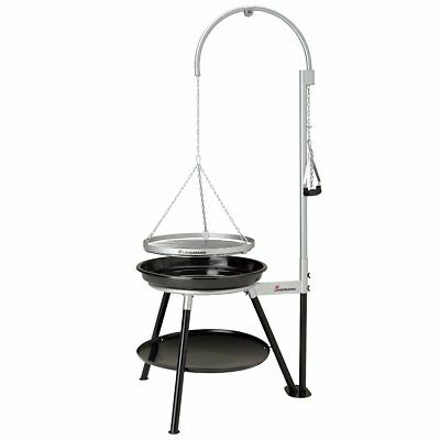 Landmann Tripod Charcoal Barbecue Grill Outdoor Geos 53cm Black and Silver 11064