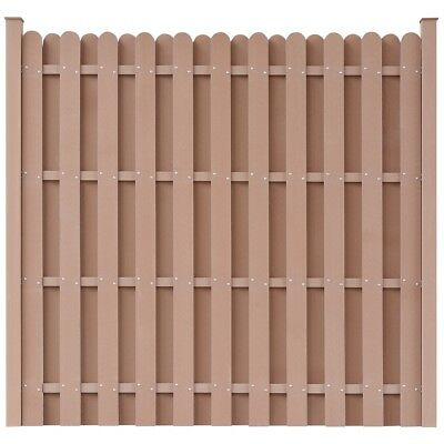 WPC Fence Panel Garden Barrier Residential Privacy Square Brown with 2 Posts