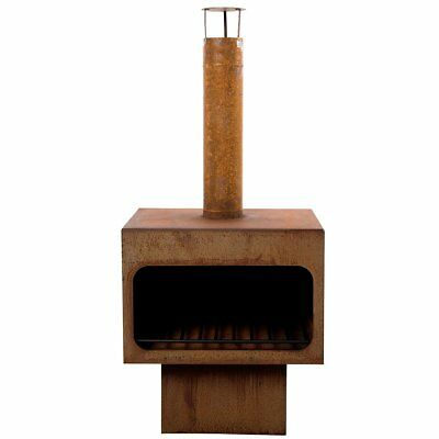RedFire Fireplace Heater Stove with Chimney/Grid Jersey XL Steel Rust 81077