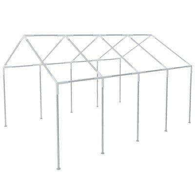 Steel Gazebo Frame for 8x4 m Marquee Patio Garden Outdoor Events Rust-resistant