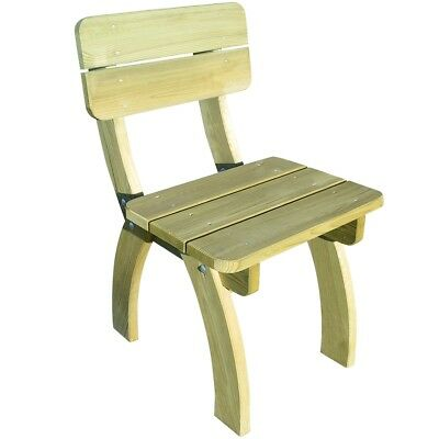 Impregnated Pinewood Wooden Garden Chair Bench Seat Outdoor Furniture Camping